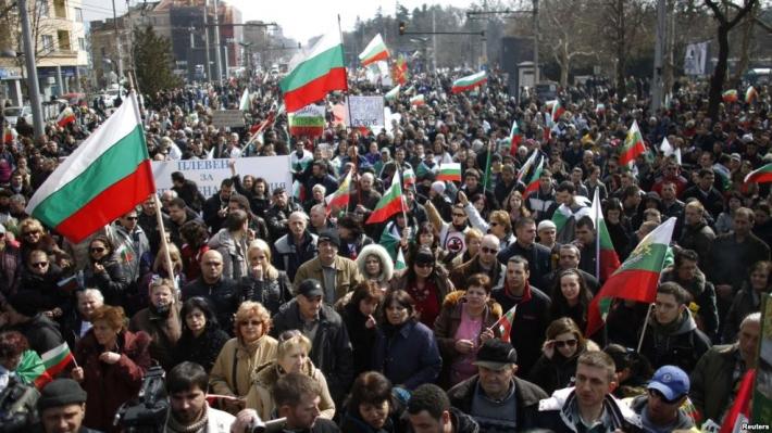 Массовая акция протеста в Софии, 3 марта 2013 года